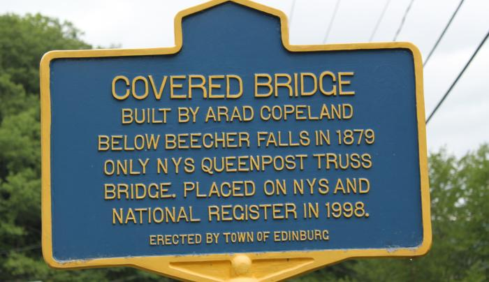 Copeland Covered Bridge sign