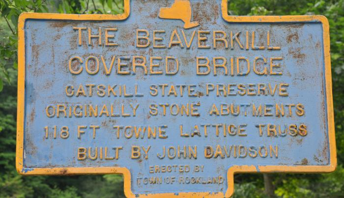 Beaverkill Covered Bridge Sign