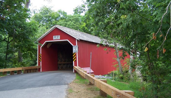 Eagleville Covered Bridge entry