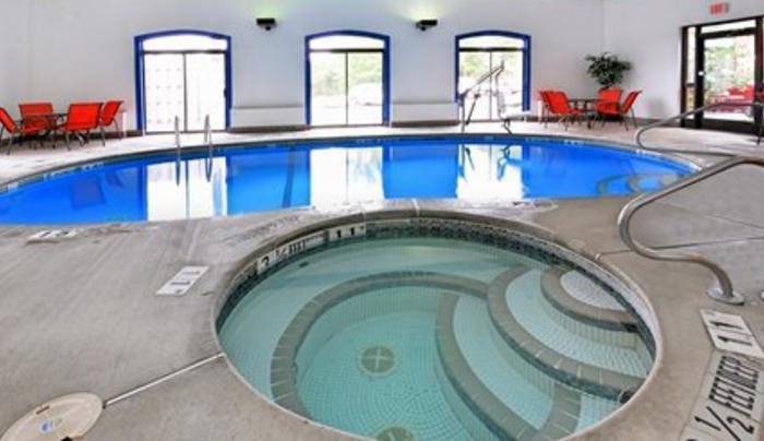 Indoor Heated pool with Hot Tub