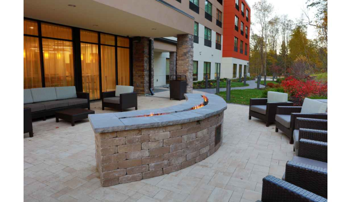 Outside Sitting Area with Fire Wall