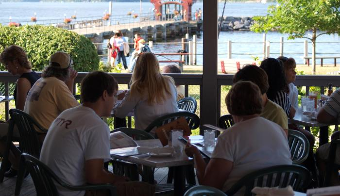 Waterfront dining in Watkins Glen