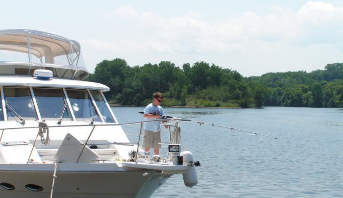 Boy Fishing on Mohawk River