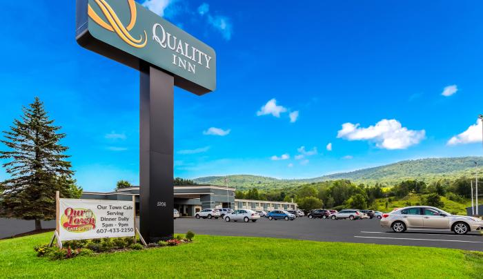 Quality Inn Sign and Parking Lot