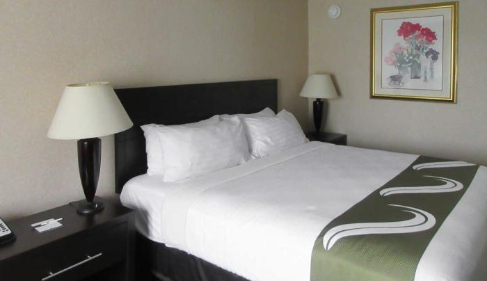 New 8/1/18 Single King Room at the Quality Inn, Oneona