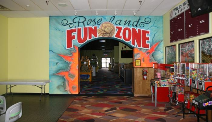Entrance to the Fun Zone at Roseland Bowl