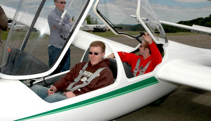 Glider rides at Harris Hill are available April-Oct, as weather permits