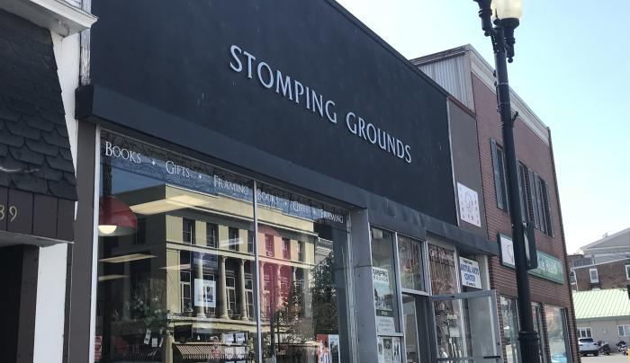 View of storefront of Stomping Grounds