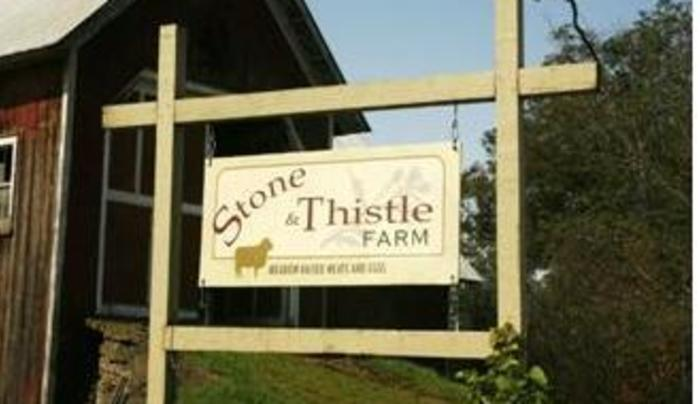 Stone and thistle Signage