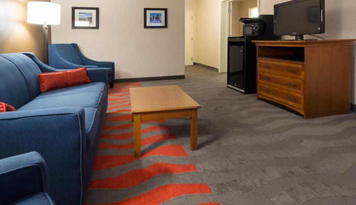 Living Room w/ Sleeper Sofa, Mini-Fridge, Microwave - Suite