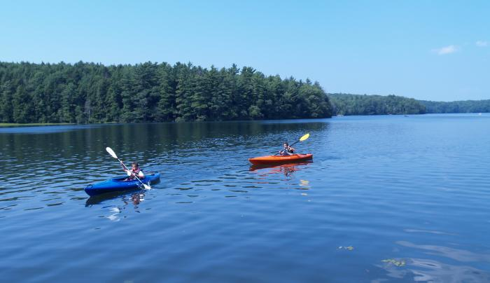 Grafton Kayaking on Long Pond.JPG