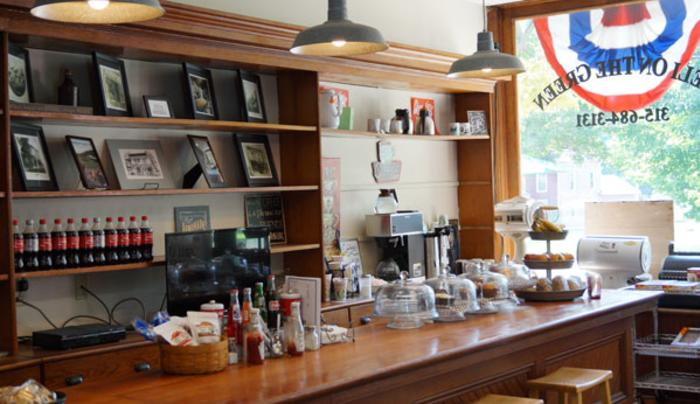 Inside our store & restaurant