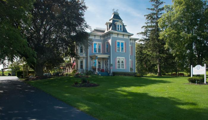 Exterior of the Sutherland House Bed and Breakfast in Canandaigua