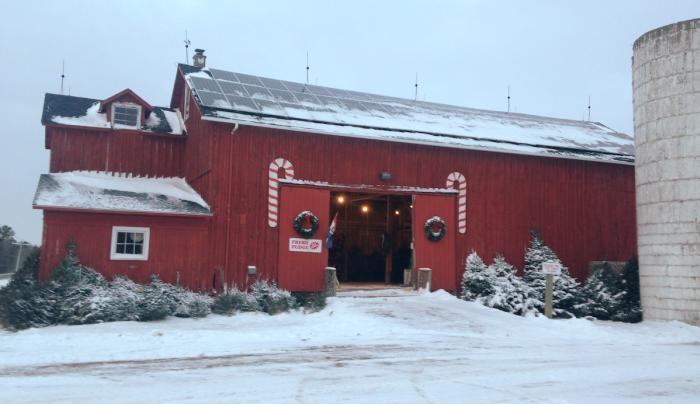Barn at Christmas
