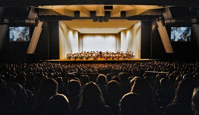 Orchestra performance at SPAC Amphitheater (c)Lawrence White