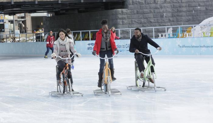 Ice Biking Canalside