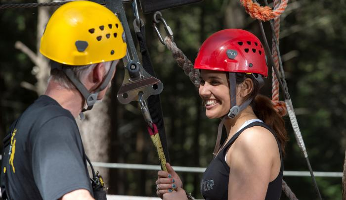 New York Zipline Canopy Tours at Hunter Mountain