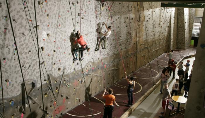 climbers at Rock Ventures, Rochester, NY