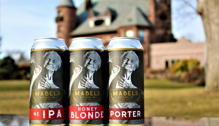 Closeup photo of the special Mabels beer made at Belhurst Estate Winery