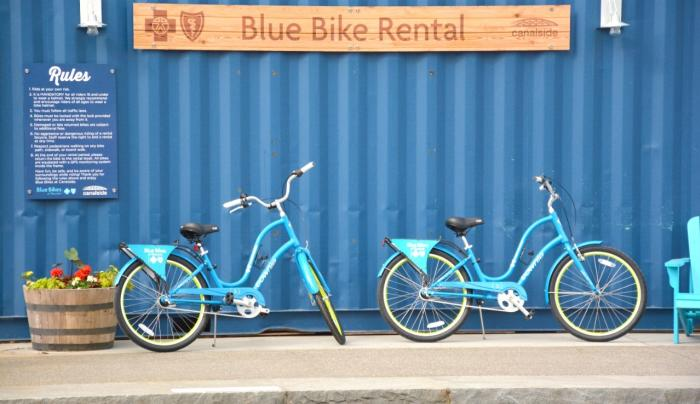Blue Bikes at Canalside