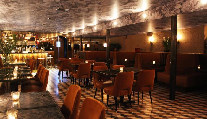 Dining and Bar interior at Bo's kitchen bar room