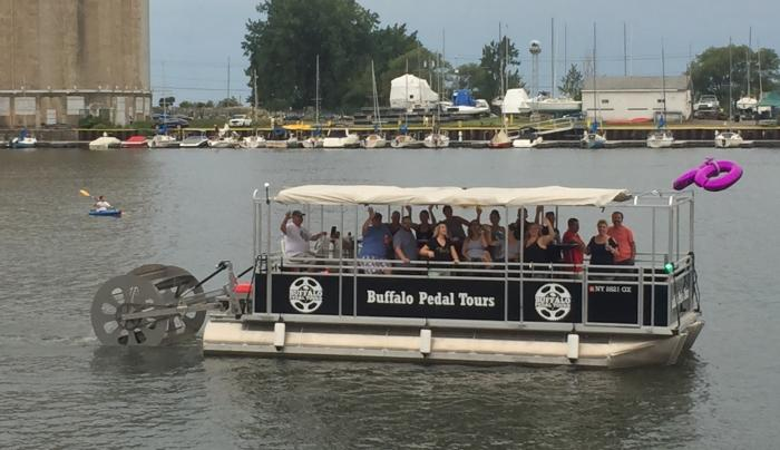 Buffalo Pedal Tours makes cycleboats!