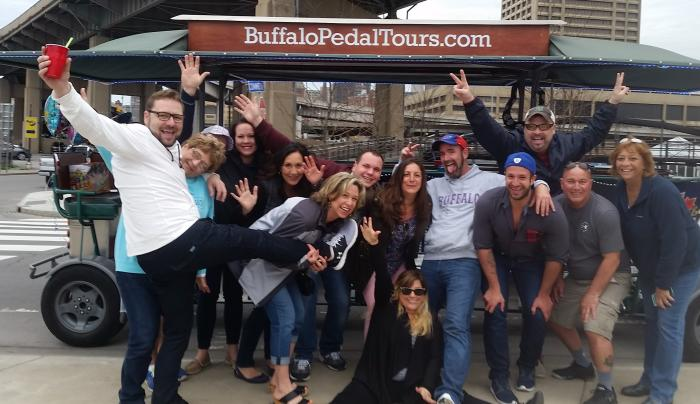 Buffalo Pedal Tours- team building fun