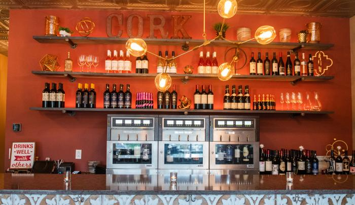 Photo of drinks that are served at the Cark49 Wine Bar in Victor