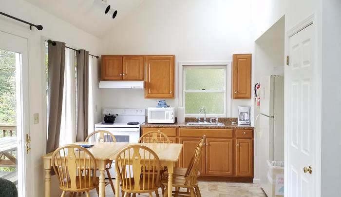 A Cottage kitchen/dining area