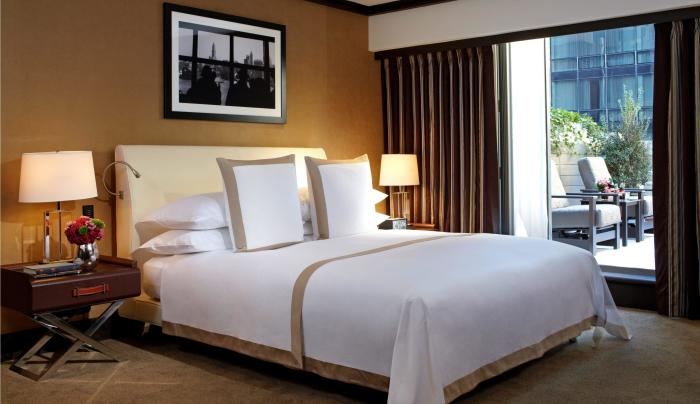 deluxe king room with terrace at The Chatwal New York