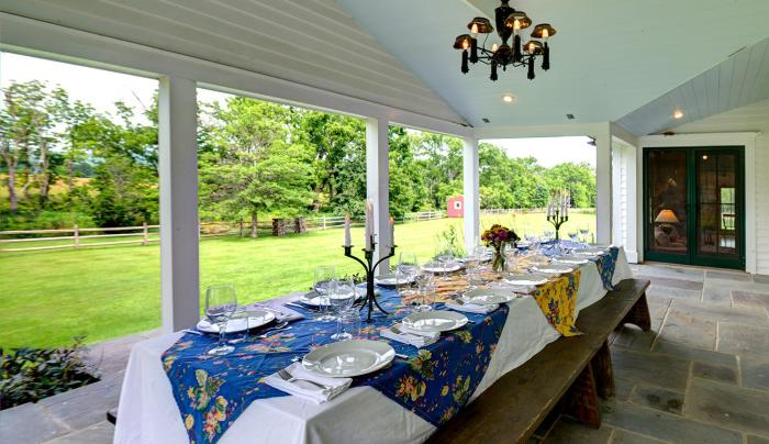 Enjoy dining al fresca on the porch