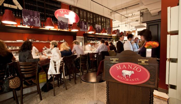 interior of Manzo at Eataly