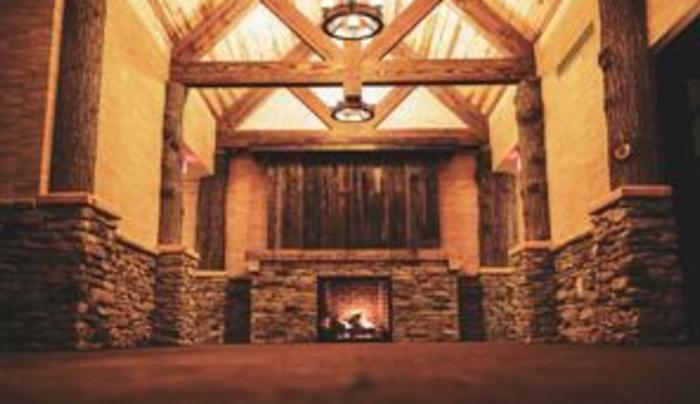 Fireplace in The Barn