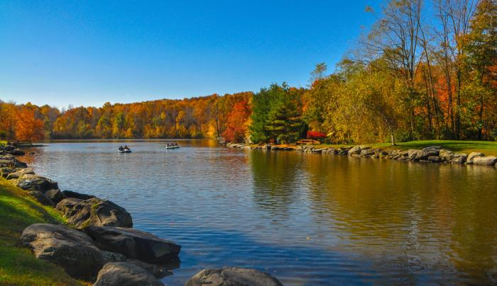 Our Lake with Beautiful Fall Colors