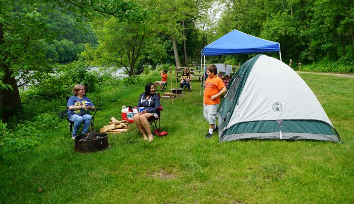 RIverside Camping in the