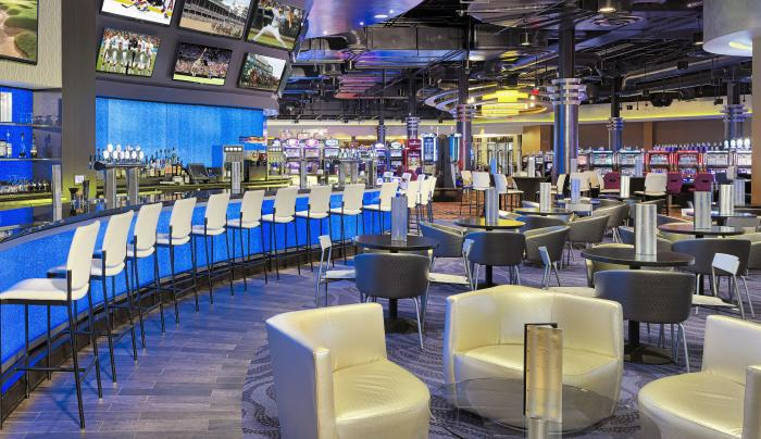 Inside of the Remedy Bar and Lounge in Finger Lakes Casino and Racetrack