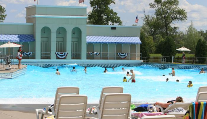 Customers enjoy the wave pool during a sunny day at Roseland Waterpark in Canandaigua