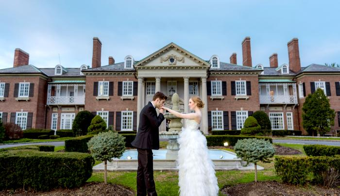 Wedding at The Mansion's front