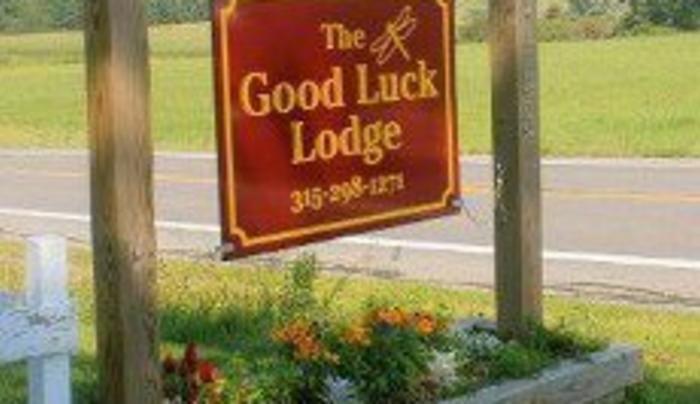 The Good Luck LodgeSign