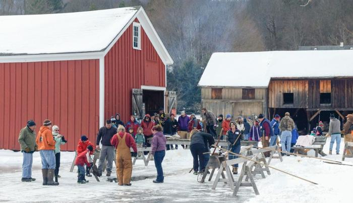 The Ice Harvest Festival, on the 1st Saturday in February, can yield 8 tons of ice.
