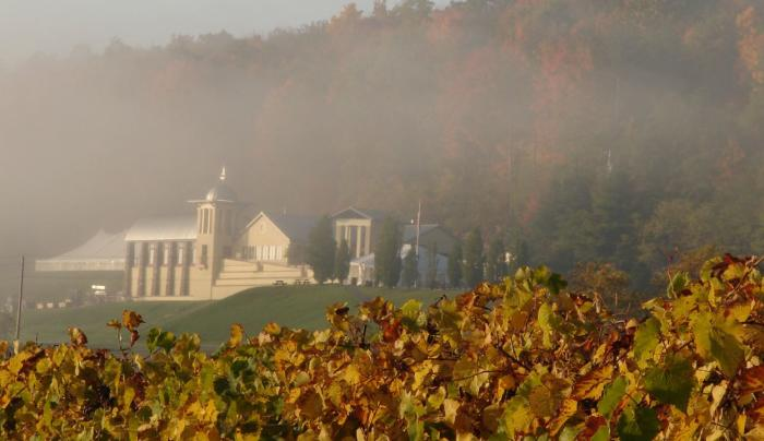 Heron Hill Winery in Fall