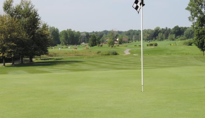 Looking back at hole #2