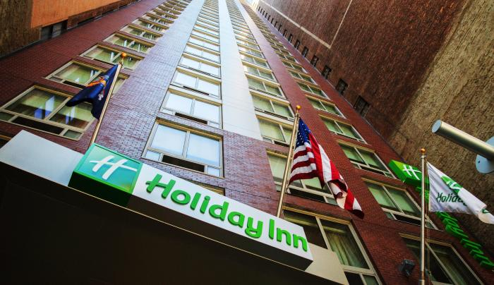 exterior of Holiday inn new york times