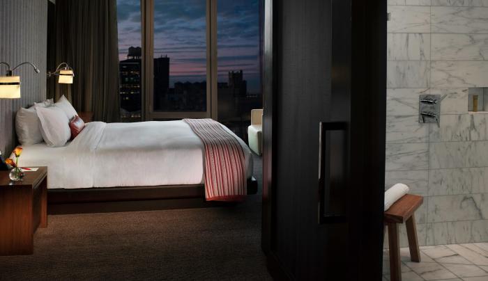 Guest room inside Eventi, A Kimpton Hotel