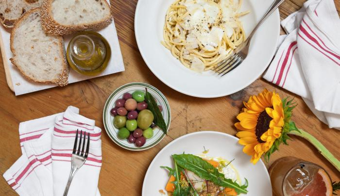 assortment of italian dishes at Il Buco Alimentari & Vineria