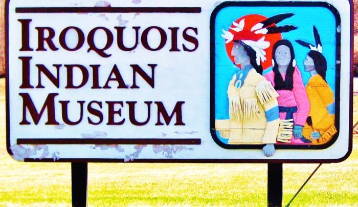 Iroquois Indian Museum Sign