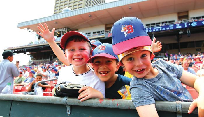 kids in crowd