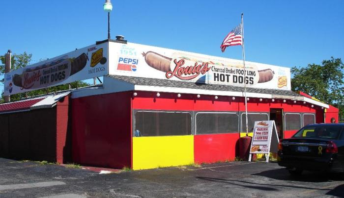 Louie's Original Foot Long Hot Dogs
