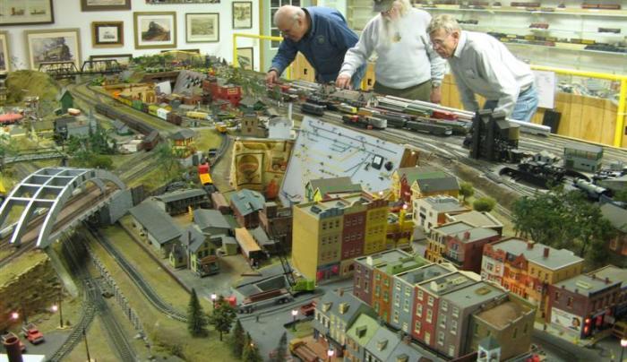 Museum HO scale model railroad