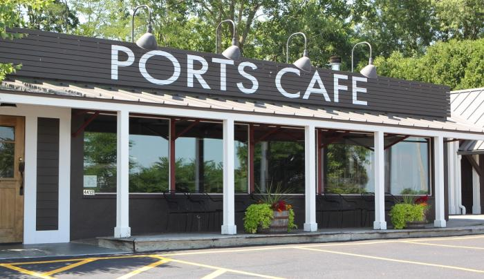 Exterior of Ports Cafe in Geneva